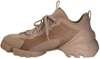 Christian Dior D Connect Beige Cloth Trainers