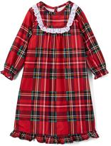 Red & Green Plaid Eyelet-Trim Nightgown - Toddler