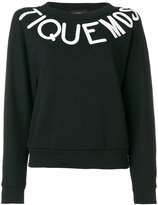 Moschino typography print sweatshirt - women - Cotton - 40
