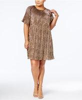 MICHAEL Michael Kors Size Metallic Pleated Dress