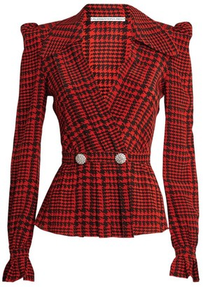 Alessandra Rich Houndstooth Blouse