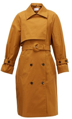 Proenza Schouler White Label Belted Stretch-cotton Trench Coat - Womens - Brown