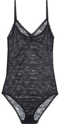 Nina Ricci Gathered Stretch-lace Bodysuit