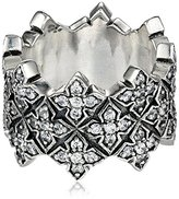 "King Baby Studio Cross"" Triple Stacked Cubic-Zirconia Cross Ring, Size 8"