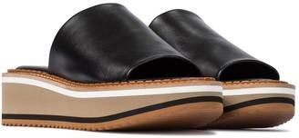 Clergerie Fast leather platform slides