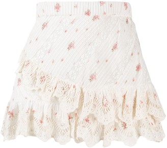LoveShackFancy Emma floral print skirt