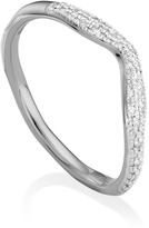 Monica Vinader Riva Diamond Wave Ring