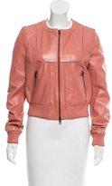 Pinko Leather Collarless Jacket w/ Tags