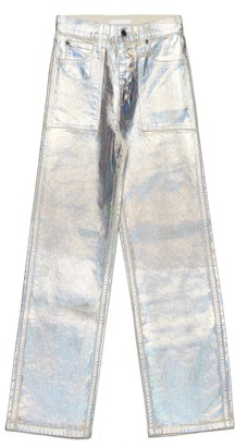Helmut Lang Lacquered Utility Patch Pocket Jeans