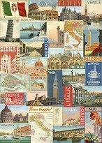 Cavallini Decorative Wrap 20X28 Italian Postcards