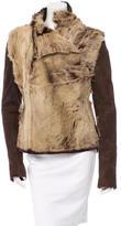 Roland Mouret Suede Shearling Jacket