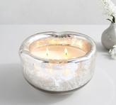 Pottery Barn Organic Edge Mercury Glass Scented Candle - French Tuberose