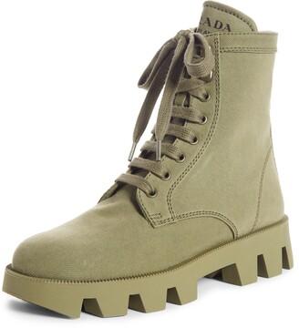 Prada Rocksand Combat Boot
