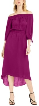 INC International Concepts Inc Off-The-Shoulder High-Low Dress, Created for Macy's