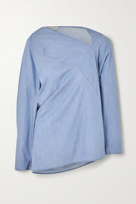 Palmer Harding Palmer/Harding palmer//harding - Triangle Asymmetric Cotton-chambray Shirt - Blue