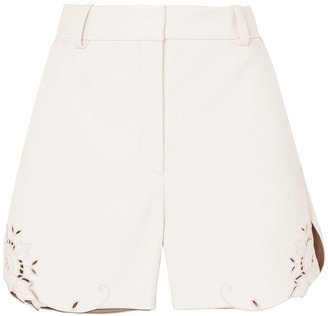 Stella McCartney Laser-cut Faux Leather Shorts