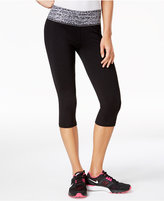 Material Girl Active Juniors' Printed-Waist Cropped Yoga Leggings, Created for Macy's