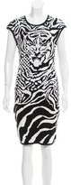 McQ by Alexander McQueen Pattern Bodycon Dress