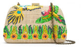 Serpui straw shoulder bag