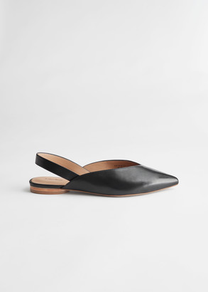 And other stories Pointed Leather Ballerina Flats