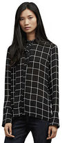 Kenneth Cole Long Sleeve Tie Neck Blouse