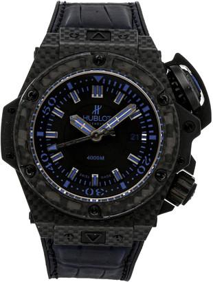 Hublot Black Carbon Fiber King Power Oceanographic 4000 Limited Edition 731.QX.1190.GR. ABB12 Men's Wristwatch 48 MM