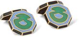 Foundwell Vintage 1920s Art Deco 18-Karat Gold and Vitreous Enamel Cufflinks