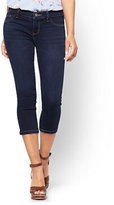 New York & Co. Soho Jeans - Cropped Legging - Blue Hustle Wash