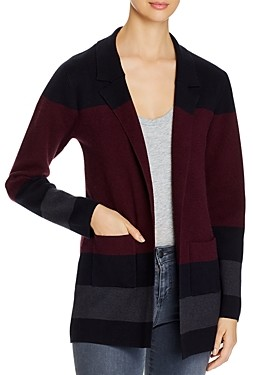 Sioni Color-Blocked Open Front Cardigan