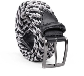 Dalgado Braided Viscose Belt Grey/Black/White Pietro