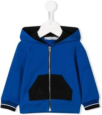 Christian Dior color-block zip-up hoodie