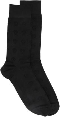 Alexander McQueen Jacquard Skull Socks