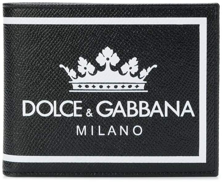 Dolce & Gabbana logo print billfold wallet