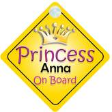 mybabyonboard UK Princess Anna On Board Girl Car Sign Child/Baby Gift/Present 002