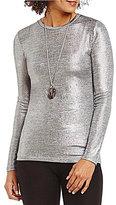 MICHAEL Michael Kors Foil Space-Dye Knit Jersey Tee