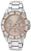 Vince Camuto Ladies Stainless Steel and Swarovski Crystal Baguette Bracelet Watch