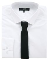 George Long Sleeve Slim Fit Shirt & Twill Tie Set