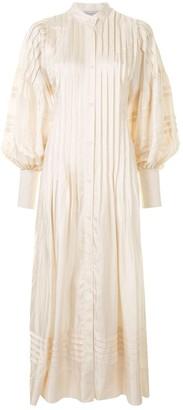 Lee Mathews Emiko pintucked shirt dress