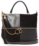 See by Chloe Emy Large Suede And Leather Tote Bag - Womens - Black