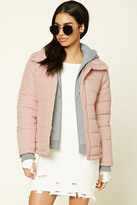 Forever 21 Hooded Puffer Jacket