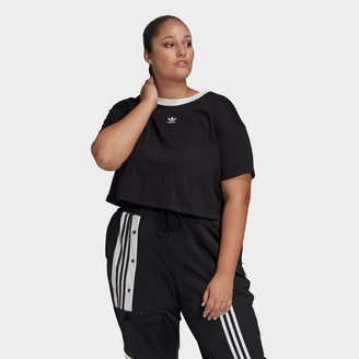 adidas Women's Crop T-Shirt (Plus Size)