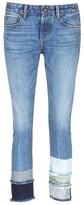 Tortoise 'Savanna' frayed patchwork cuff jeans