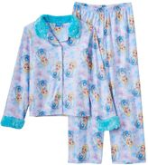 Disney Disney's Frozen Elsa Girls 4-10 Winter Button-Front Pajama Set