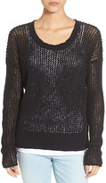 James Perse Open Stitch Cotton & Linen Knit Top