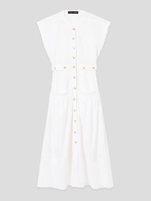 Proenza Schouler Short Sleeve Buttoned Cotton Dress
