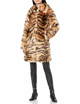 KENDALL + KYLIE Women's Faux Fur Coat