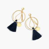 J.Crew Abstract tassel hoop earrings
