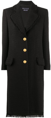 Boutique Moschino Wool Fitted Overcoat
