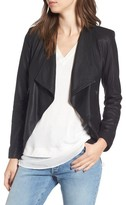 BB Dakota Women's Brycen Leather Drape Front Jacket