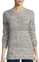 ST. JOHN'S BAY St. John's Bay Long-Sleeve Marled Scoopneck Sweater